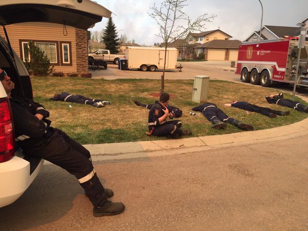 firefighters rest