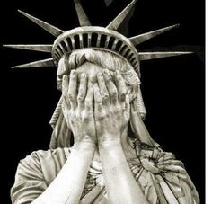 lady liberty cries