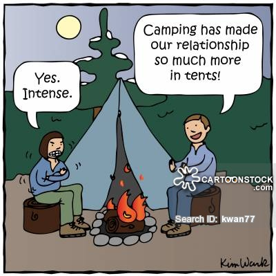 'Camping has made our relationship so much more in tents!'