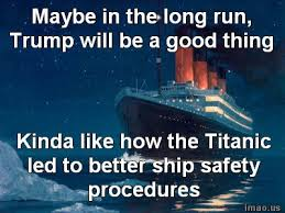 Image result for trump sinking the US