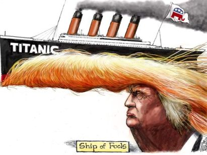 Image result for trump ship sinking