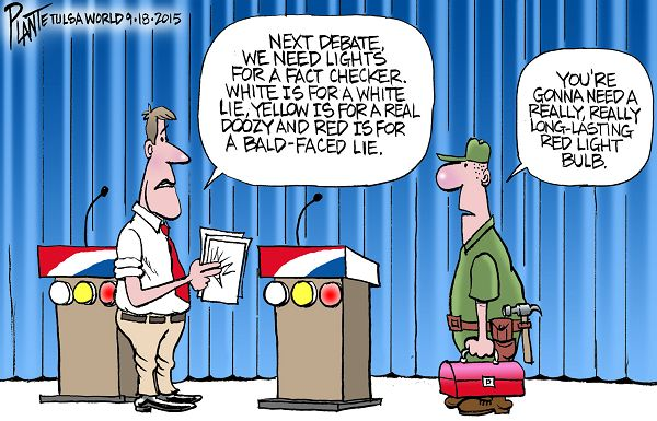 Bruce Plante Cartoon: Adjustments to the next debate