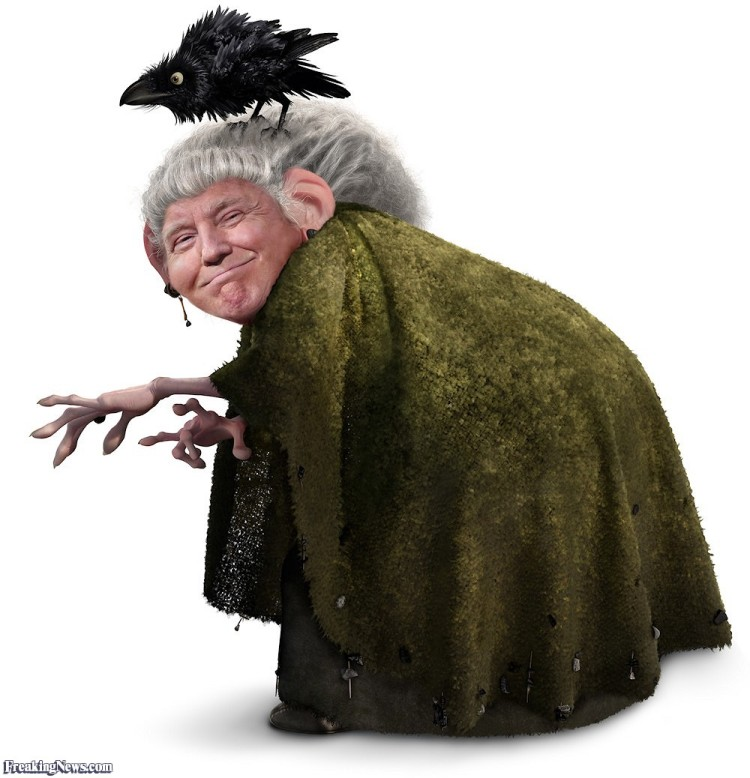Trump-as-witch