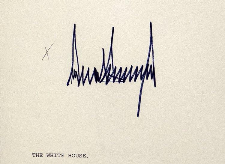 Trump-signature