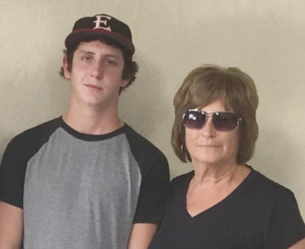 Eric and grandma