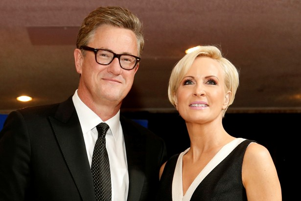 FILE PHOTO: MSNBC's Scarborough and Brzezinski arrive for the annual White House Correspondents' Association dinner in Washington