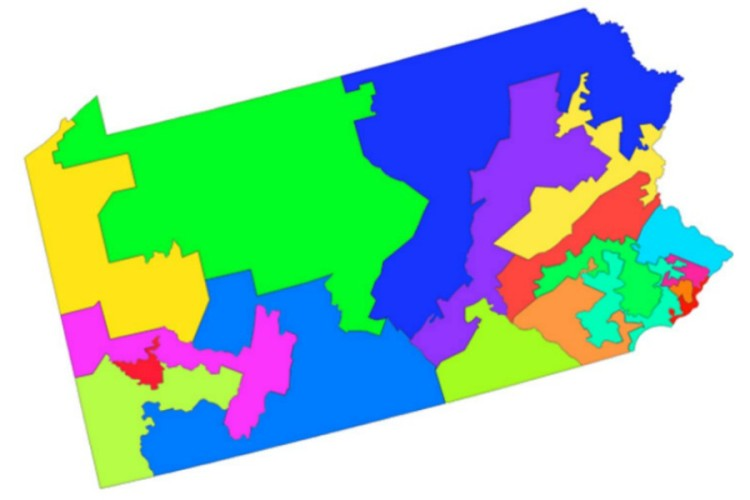 PA gerrymanded map