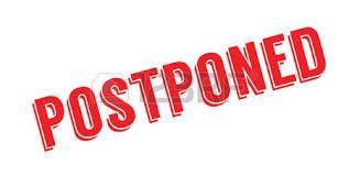 postponed