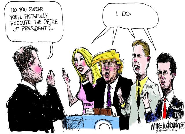 Trump clan toon