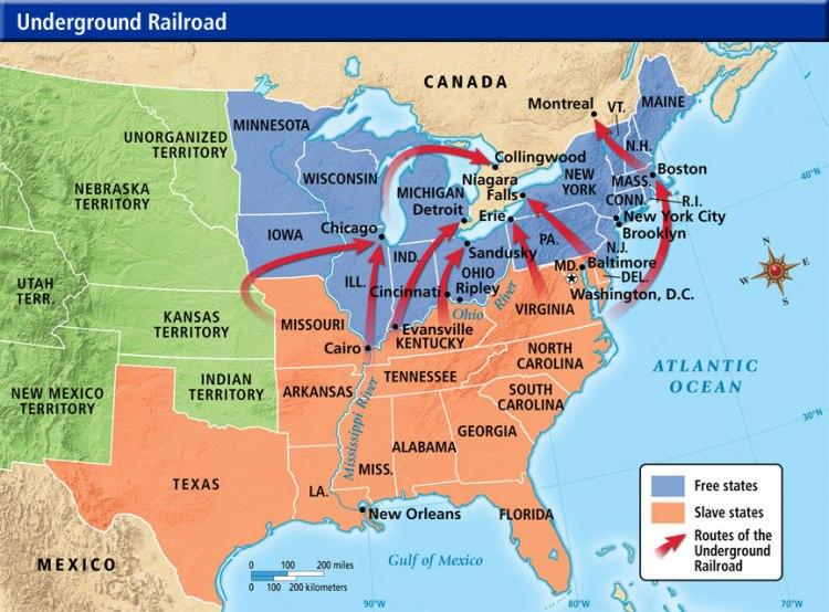 Underground RR Map