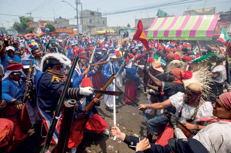 Battle of Puebla reenactment