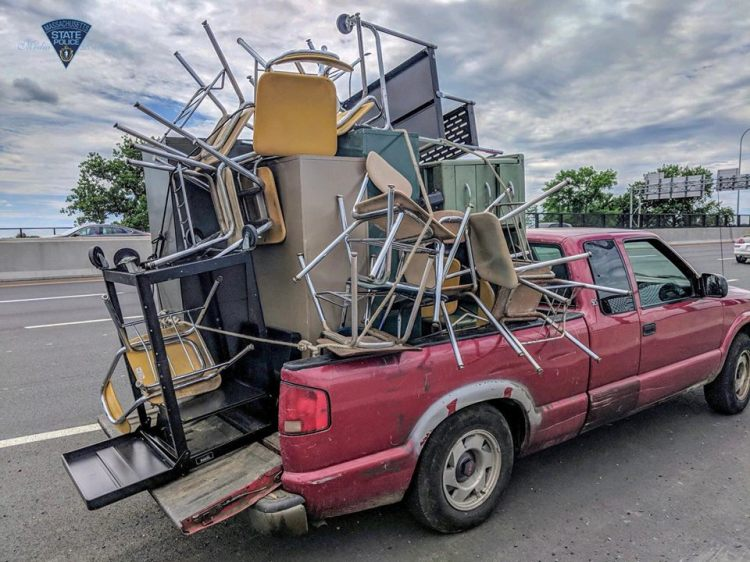 overloaded pickup