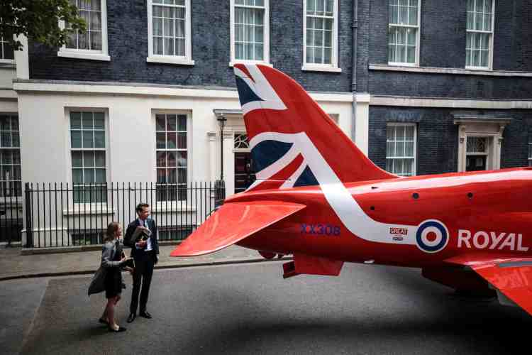 plane on Downing St