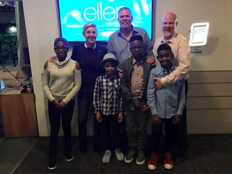 Scheer clan on Ellen