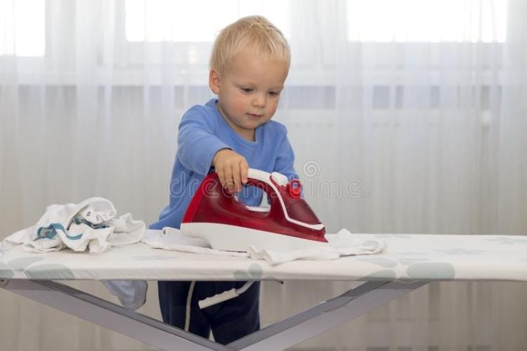 toddler ironing