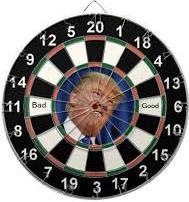 Trump dartboard
