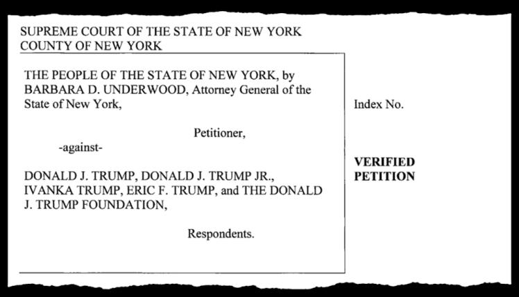 Trump foundation lawsuit