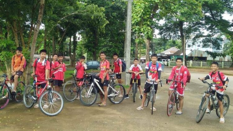 soccer team just before cave