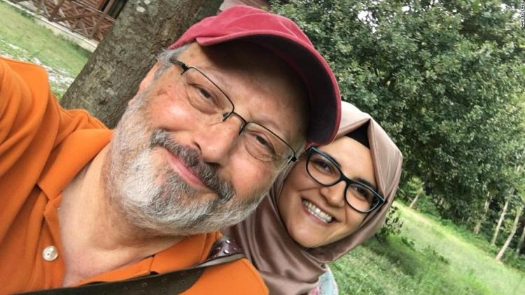 Missing Saudi Journalist Jamal Khashoggi with his fiance Hatice Cengiz