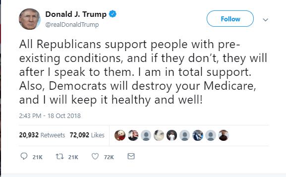 Trump lying tweet