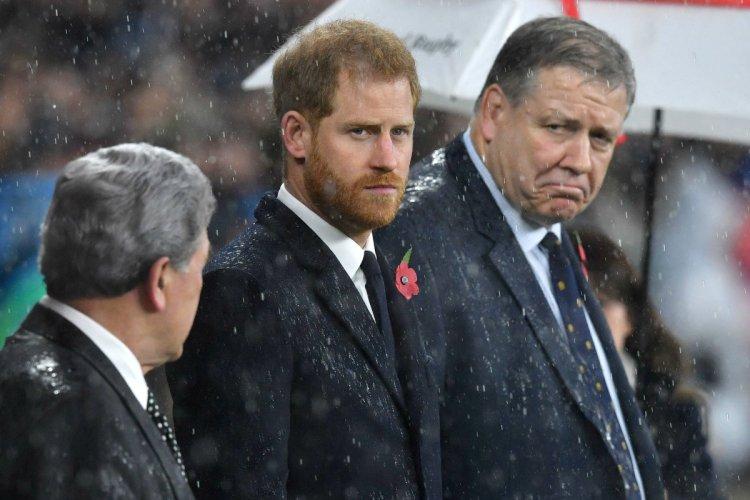Prince Harry rain