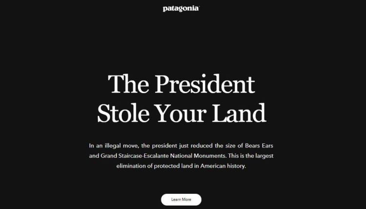 Patagonia front page