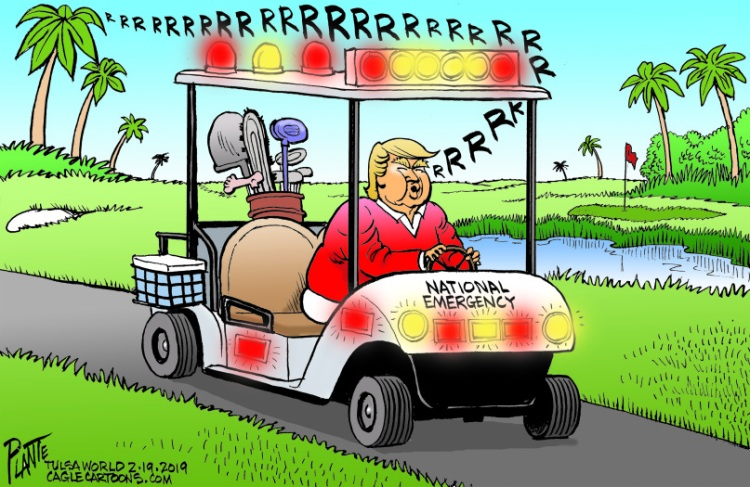 Bruce Plante Cartoon: Trump's national emergency