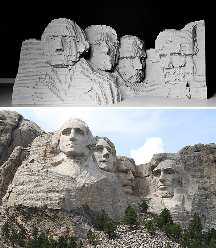 Lego-Rushmore