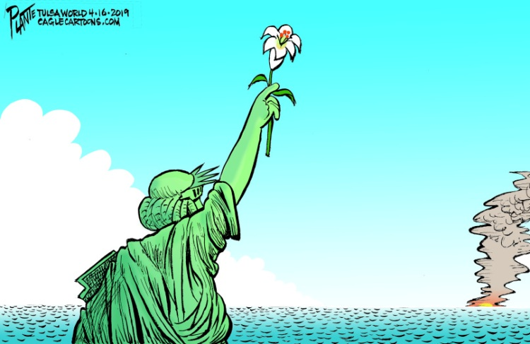 Bruce Plante Cartoon: The Easter Lily
