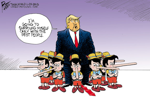 "Bruce Plante Cartoon: Trump's ""Best People"""
