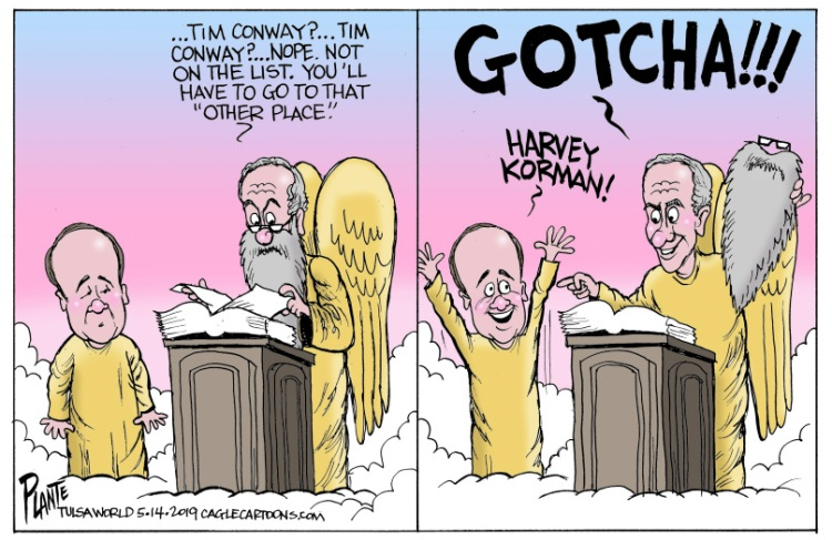Bruce Plante Cartoon: RIP Tim Conway
