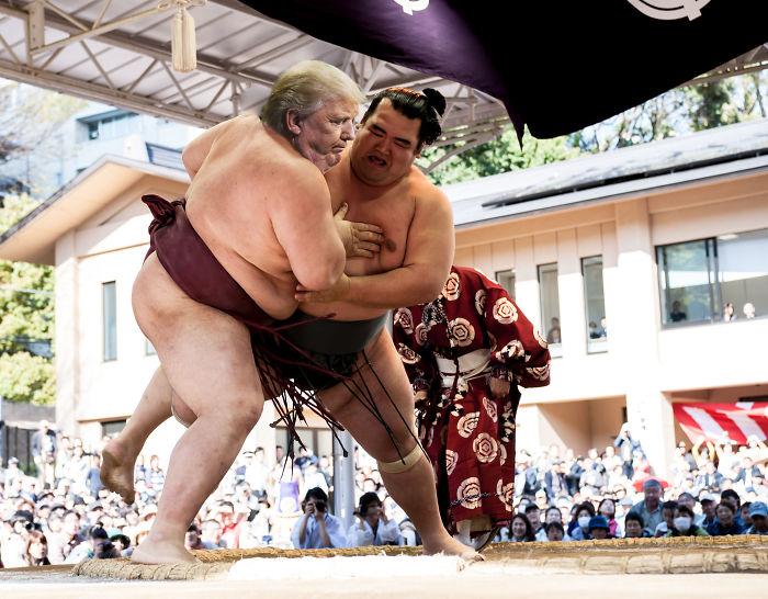 Trump-as-sumo