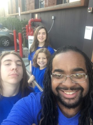 Barry Farmer is raising three boys through adoption and living his dream of being a dad Credit: Courtesy Barry Farmer