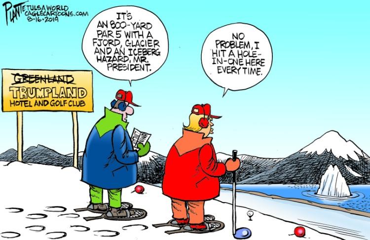 Bruce Plante Cartoon: Trump and Greenland