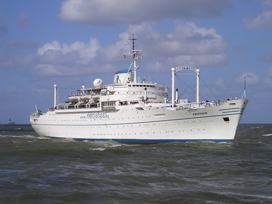 Anastasis sailing at sea