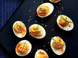 food-devilled eggs