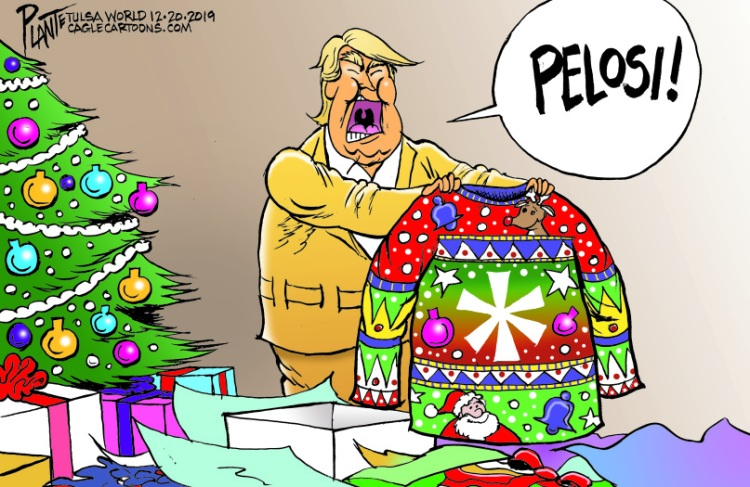 Bruce Plante Cartoon: Trump gets a present