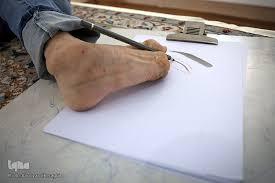 foot-drawing