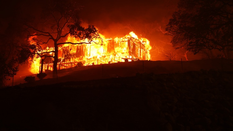 Hennessey Fire Burns In Napa County