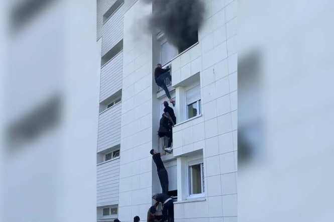 Migrant youths in Nantes, France, rescued a baby and parents from a deadly fire. (Image from connexionfrance.com)