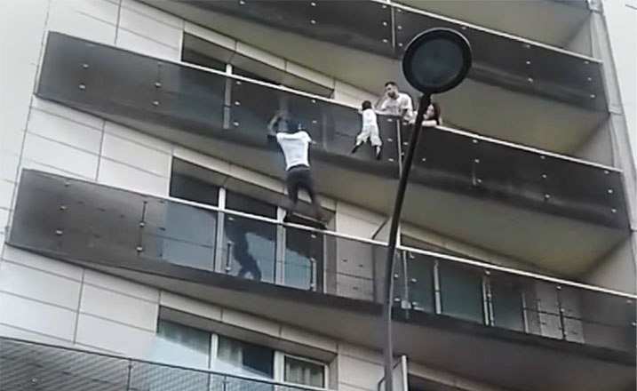 Mamoudou Gassama, a migrant from Mali, scaled four balconies of a building in Paris before pulling a child to safety.
